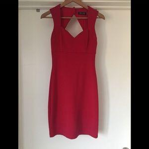 Guess Red Midi Dress